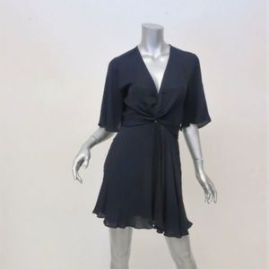 A.L.C. Dress Ava Midnight Twist-Front Silk